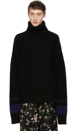 Haider Ackermann - Black Borago Turtleneck