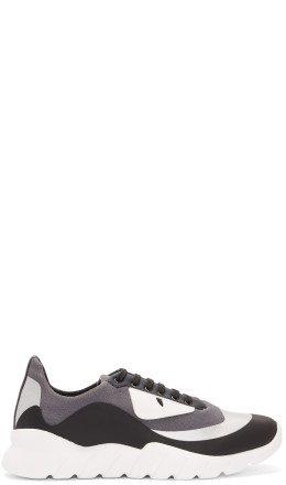 Fendi - Black & Grey 'Bag Bugs' Sneakers