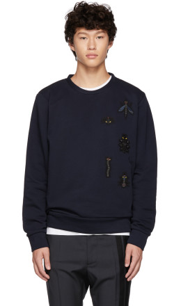 Fendi - Navy 'Super Bugs' Sweatshirt