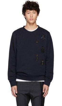 Fendi - Navy 'Super Bugs' Sweatshirt