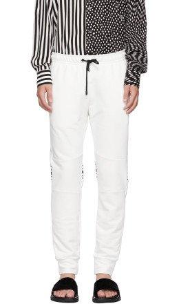 Fendi - White Cuff Jogger 'Forever Fendi' Lounge Pants