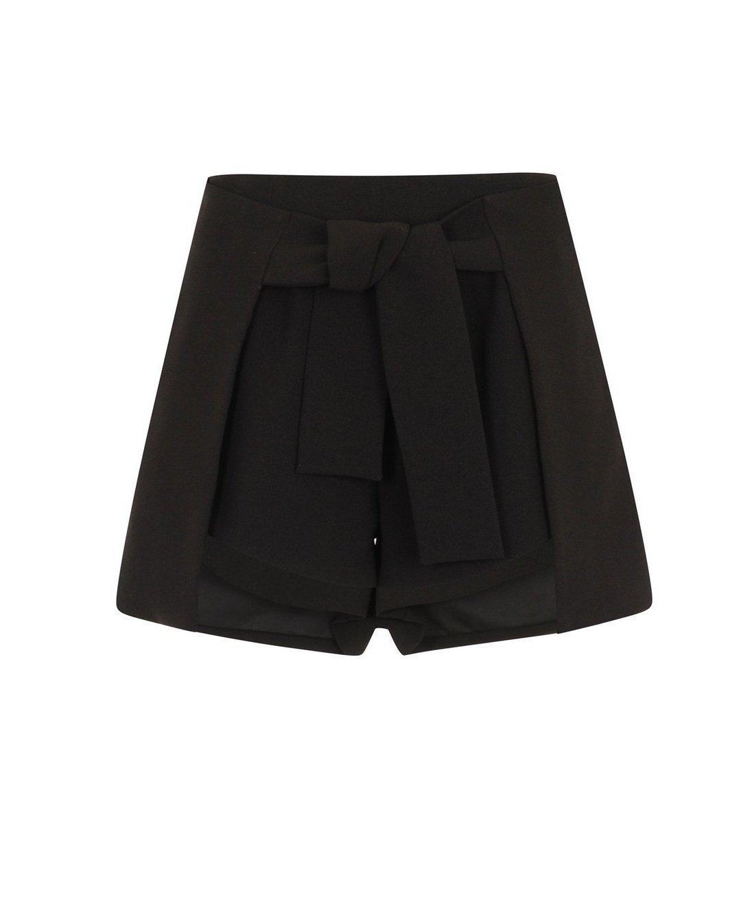 ab06320482172 Lavish Alice Black Tie Front Side Split Shorts - as seen on Taylor Swift