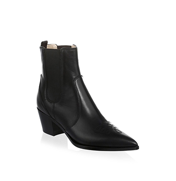 Western Leather Chelsea Boot Gianvito Rossi $1,095