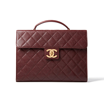 What Goes Around Comes Around Chanel Caviar Briefcase $3,750