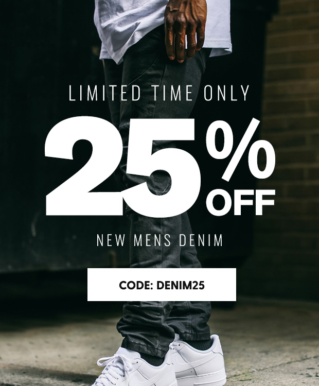 25% OFF NEW DENIM