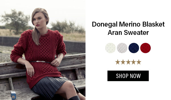 Donegal Merino Blasket Aran Sweater Was: $129.95 Now: $114.95