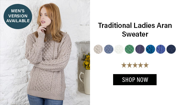 Traditional Ladies Aran Sweater