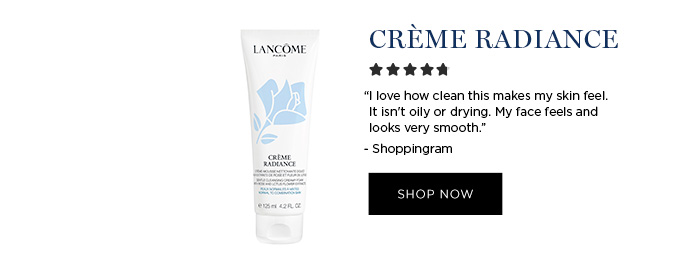 """CRME RADIANCE - """"I love how clean this makes my skin feel. It isn't oily or drying. My face feels and looks very smooth."""" - Shoppingram - SHOP NOW"""