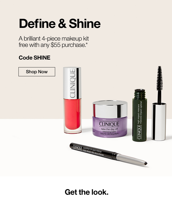 A brilliant makeup kit FREE with purchase.