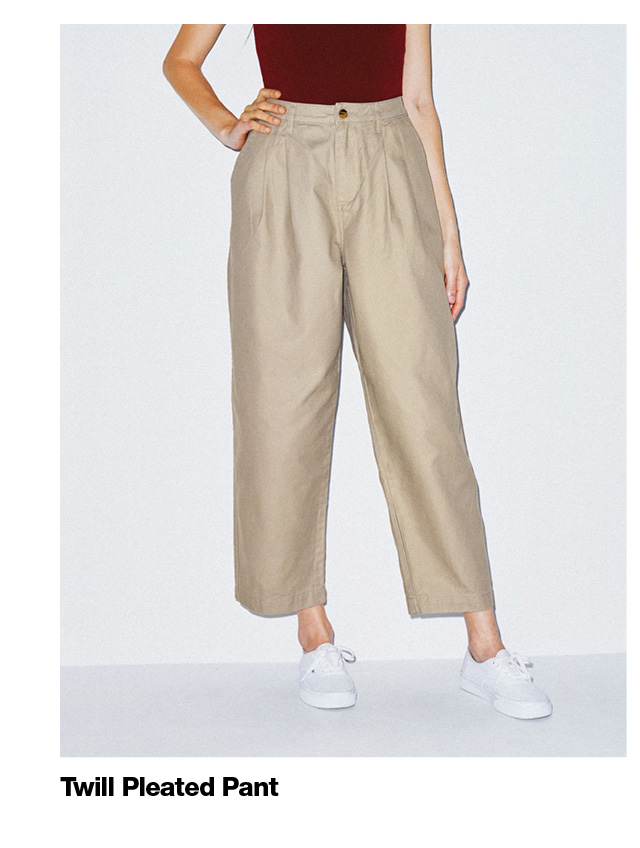 Twill Pleated Pants