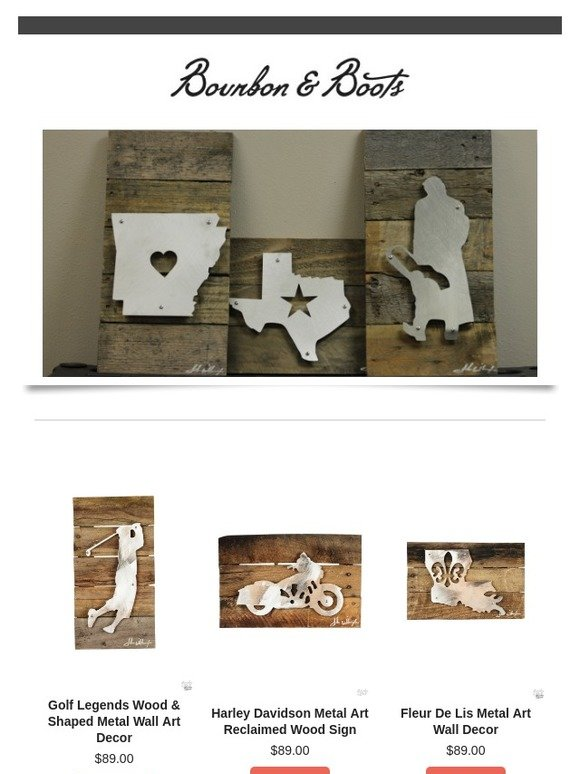 Bourbon & Boots: Unique Wall Decor...Exclusively From Bourbon and ...