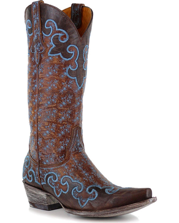 e33f1d121834c Old Gringo Women's Wink Dark Blue Booties - Snip Toe · Old Gringo Women's  Lynette Western Boots