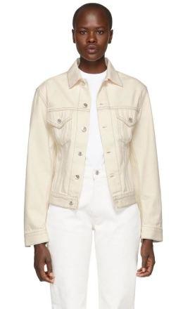 Helmut Lang - White Denim Femme Trucker Jacket