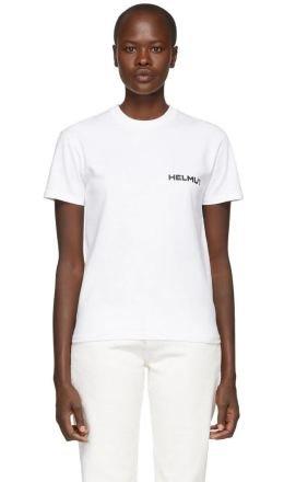Helmut Lang - White Brian Roettinger Logo Hack T-Shirt
