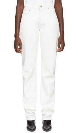Helmut Lang - White Masc Hi Straight Jeans