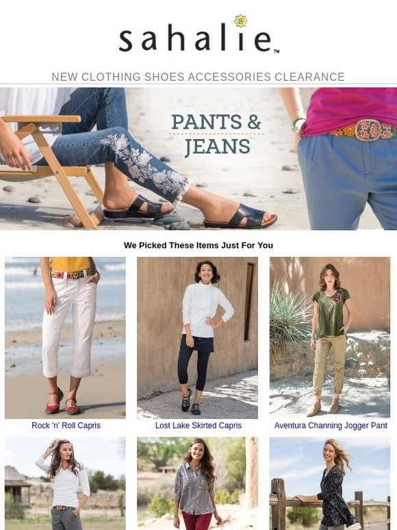 2369b25f0b217 Sahalie: May we suggest these new pants & jeans? | Milled