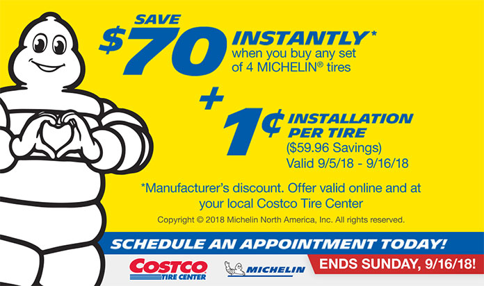 Costo: Michelin Penny Install Ends Sunday, 9/16! Winterize