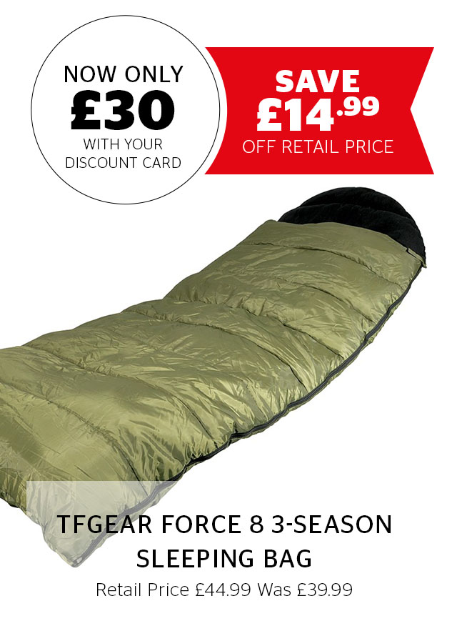 TFGear Force 8 3-Season Sleeping Bag