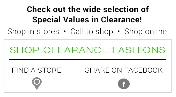 New Markdowns in Clearance