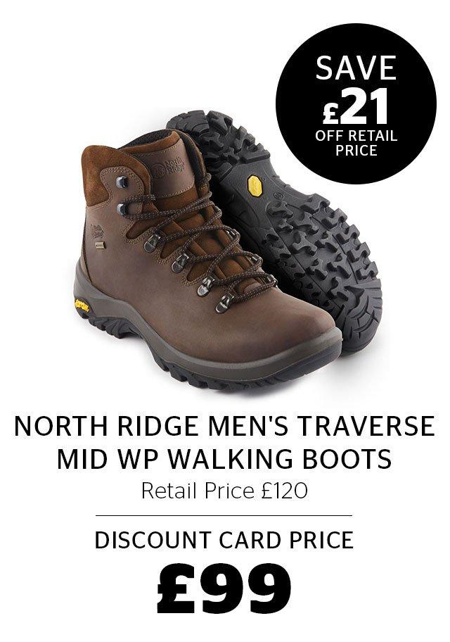 North Ridge Men's Traverse Mid WP Walking Boots
