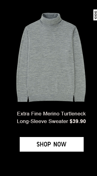 EXTRA FINE MERINO TURTLENECK LONG-SLEEVE SWEATER 429.90 - SHOP NOW
