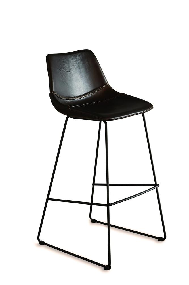 Image of DON LEATHER BAR STOOL