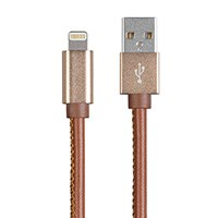 Monoprice Leather Apple MFi Certified Lightning to USB Charge & Sync Cable, 3ft
