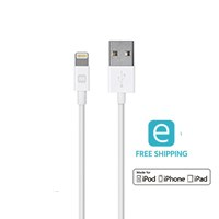 Monoprice Essentials Apple MFi Certified Lightning to USB Charge & Sync Cable, 3ft White