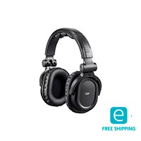 Monoprice Essentials Premum Hi-Fi DJ Style Over-the-Ear Pro Bluetooth Headphones with Mic and Qualcomm aptX Support (8323 with Bluetooth)