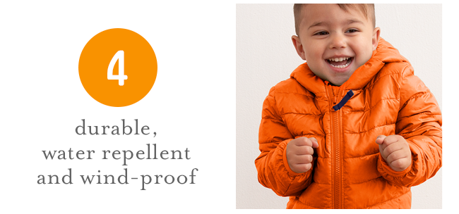 durable, water repellent and wind-proof
