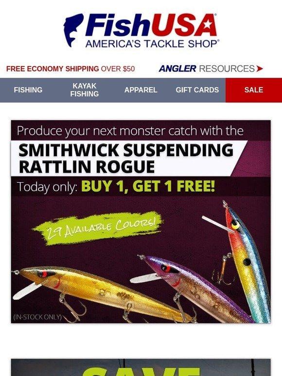 8deb1e07926 FishUSA.com: Buy 1, Get 1 Rattlin Rogues + Up to 15% Off Attractors | Milled