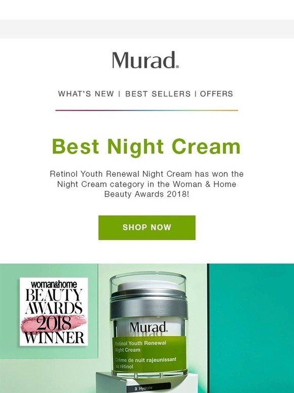 Murad UK: We won! Retinol Youth Renewal Night Cream Awarded