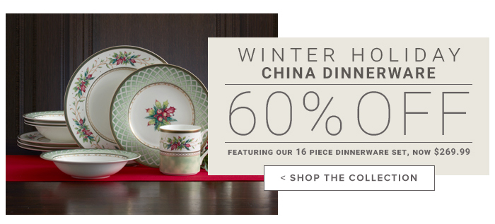 Winter Holiday China Up to 60% Off