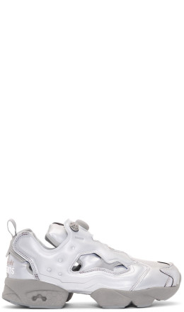Vetements - Grey Reebok Edition Reflective Instapump Fury Sneakers