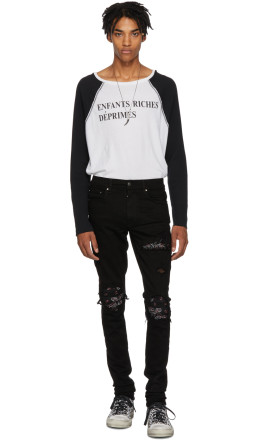 Amiri - Black & Red Bandana Jeans