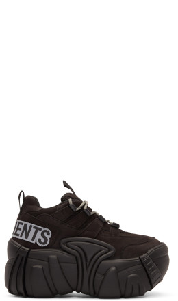Vetements - Black Leather Platform Sneakers