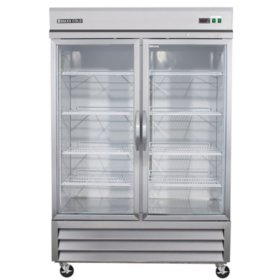 Maxx Cold X-Series Double Glass Door Commercial Refrigerator  Stainless Steel (49 cu. ft.)