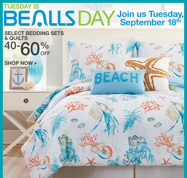 Shop 40-60% Off Select Bedding Sets & Quilts