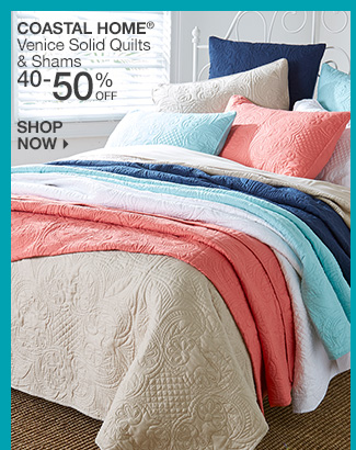Shop 40-50% Off Coastal Home Venice Quilts