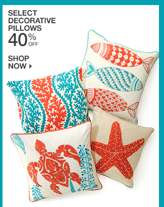 Shop 40% Off Select Decorative Pillows