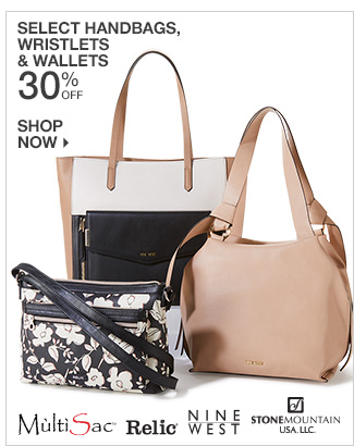 Shop 30% Off Select Handbags, Wristlets & Wallets