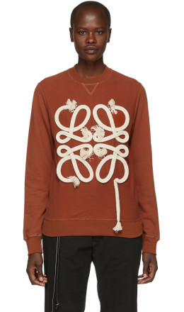 Loewe - Orange Rope Anagram Sweatshirt