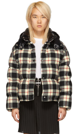 Moncler - Black Check Down Caille Jacket