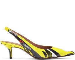 Vetements - Yellow Racer Slingback Heels