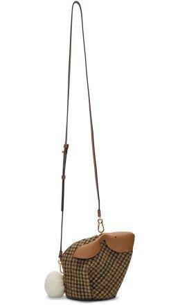 Loewe - Brown Mini Tweed Bunny Bag