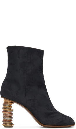 Vetements - Black Geisha Coin Ankle Boots
