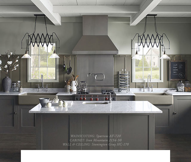 Benjamin Moore Paints Kitchen Makeover Cabinets Edition Milled