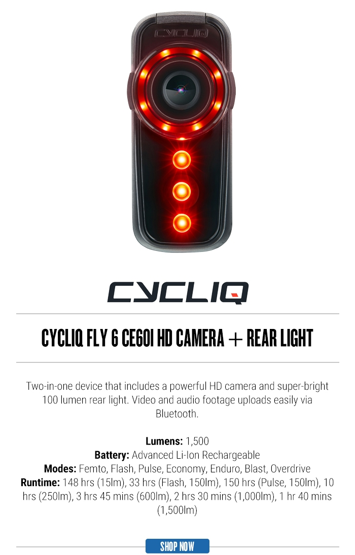 Cycliq Fly 6 CE601 HD Camera + Rear Light