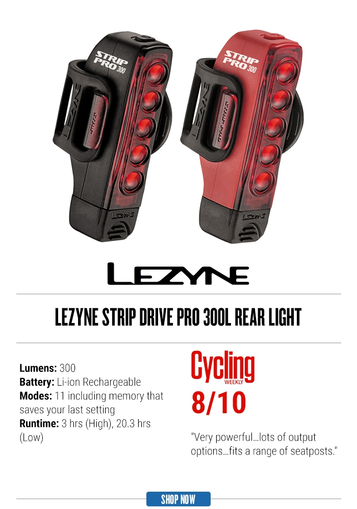 Lezyne Strip Drive PRO 300L Rear Light