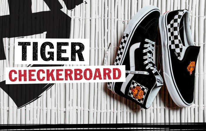 vans tiger checkerboard \u003e Clearance shop